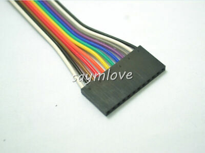 5pcs New 12pin 20cm 2.54mm Female to Female jumper wire Dupont cable for Arduino