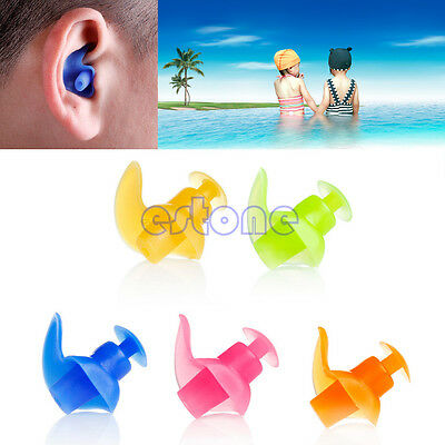 Silicone Waterproof Swim Earplugs Diving Soft Anti-Noise Ear Plug Professional