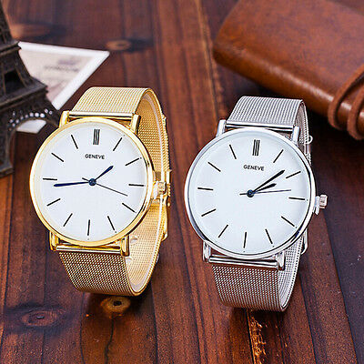 GENEVA Women Womens Watch  Stainless Steel Mesh Band Analog Quartz Wrist Watch