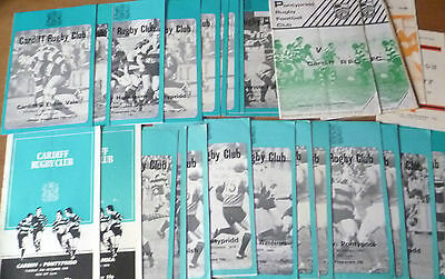 30x - Cardiff, Collection of Home & Away Programmes, 1978-82.