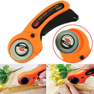 28mm 45mm Rotary Circular Hand Cutter Sewing Quilting Fabric Craft w/ Blade Opt