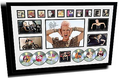 New Pink Signed Limited Edition Framed Memorabilia