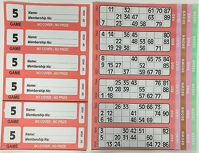 1500 5 Page Games Xl Bingo Tickets Similar To Jumbo In Size & Quality Free Item