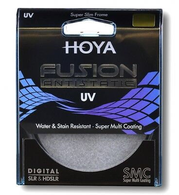 Hoya 82mm Fusion Anti-Static 9 Layer Super Multi Coated UV Ultra Violet Filter