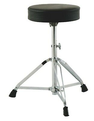 DOUBLE BRACED DRUM  STOOL DRUM THRONE Padded Seat 3 Height Settings