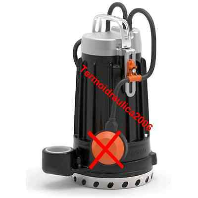 Submersible DRAINAGE Electric Pump clear water DC8 0,75Hp 400V Cable10 Pedrollo