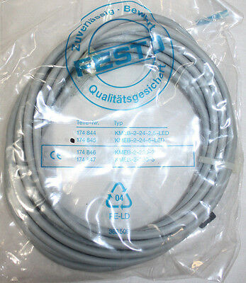 New! Festo KMEB-2-24-5-LED Connector Cable