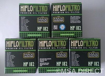 Piaggio Beverly 350 / Sport Touring (2011 to 2017) Hiflo Oil Filter (HF182) x 5