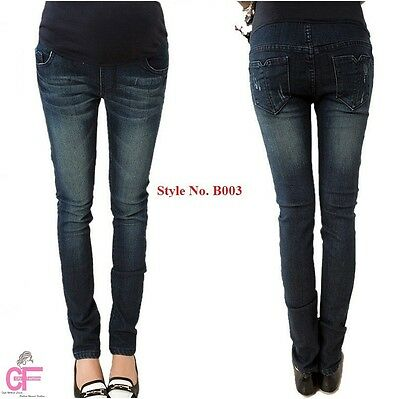 Blue Skinny Maternity Jeans Pregnancy Wear Clothes Size 8 10 12 14 16 18 20 22