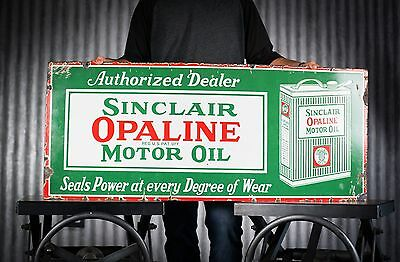 Original 1920s Sinclair Opaline Porcelain Gas Oil Sign