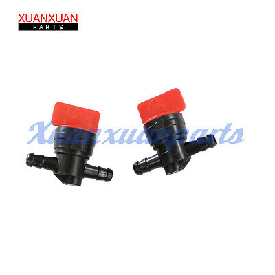 "2X 1/4"" In Line Straght Gas Fuel Shut Off / Cut Off Valves Motorcycle Petcock"