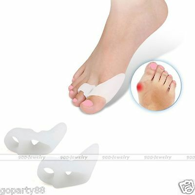 Gel Toe Separators Stretchers Bunion Spacer Straightener Corrector Alignment GP