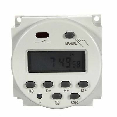 New LCD Digital Control Power Programmable Timer DC 12V 16A Time Relay Switch H2