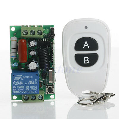 220V ON OFF Light Remote Control Wireless Switch Receiver+Transmitter 315/433MHz