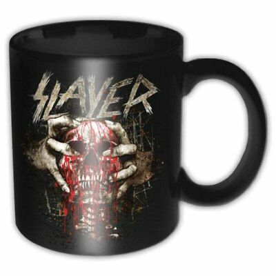 Slayer Skull Clench Black Band Logo Rusty Boxed Coffee Gift Mug Cup Official