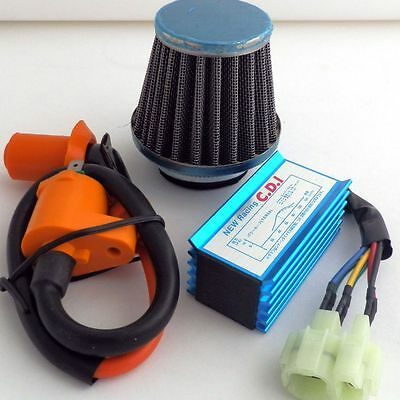 Performance AIR FILTER Ignition Coil CDI GY6 50 125 150 Scooter Moped Parts