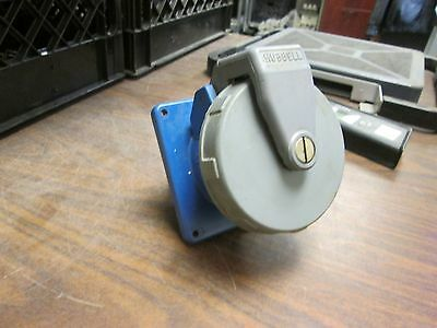Hubbell Receptacle 460R9W 60A 250VAC 4W Used