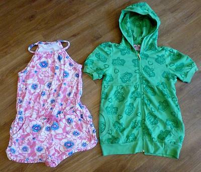 Juicy Couture Girls Outfit/Set Pink Velour Playsuit & Hooded Jacket Age 10 ch