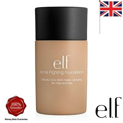 ELF e.l.f. Studio Acne Fighting Foundation Porcelain #83121  * UK SELLER *