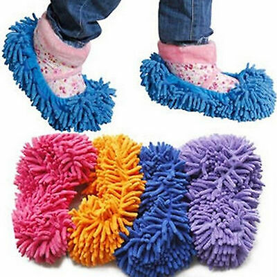2pcMop Slippers Dusting Cleaning Foot Socks Shoe Lazy Quick House FloorPolishing