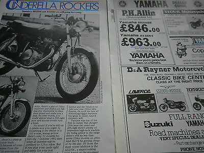 Yamaha Sr250E / Xs250C # Vintage Original Motorcycle Article # 3 Pages