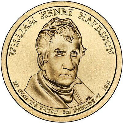 """2009 P William Henry Harrison Presidential Dollar """"Brilliant Uncirculated"""" Coin"""