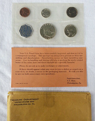 1963 Proof Set Original Package 90% Silver Franklin Washington US Mint 5 Coins