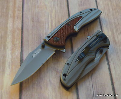 8 Inch Overall Tacforce Spring Assisted Tactical Knife With Pocket Clip