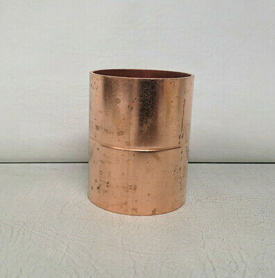 """~Discount HVAC~ W1072 - Copper Coupling Rolled Stop RS 2-1/8"""" ID  2-1/4"""" OD CxC"""