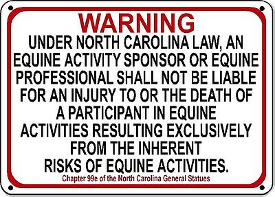 NORTH CAROLINA Equine Sign with 1 inch letters