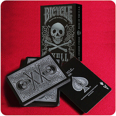 Bicycle Skull Deck - Silver - Playing Cards - Magic Tricks - New