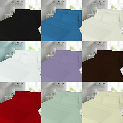 100% Cotton Flannelette Flannel Fitted Sheets Single Double King Super King Size