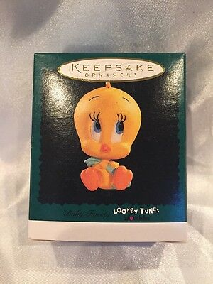 Baby Tweety Bird 1996 Hallmark Mini Christmas Ornament - Looney Tunes Lovables