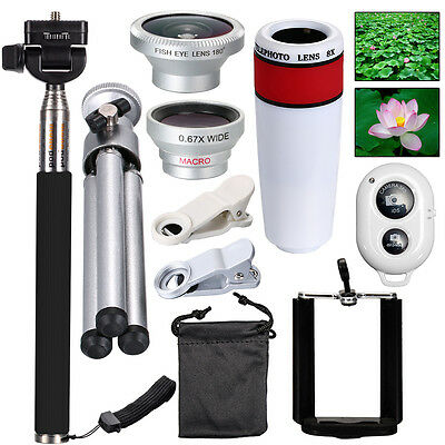 For iPhone 6 Camera Lens Kit Fisheye Lens Monopod ,AWESOME ACCESSORIES DC599