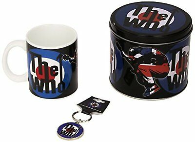 The Who Target Leap Logo Presentation Tin Gift Set Mug Keyring Keychain Official