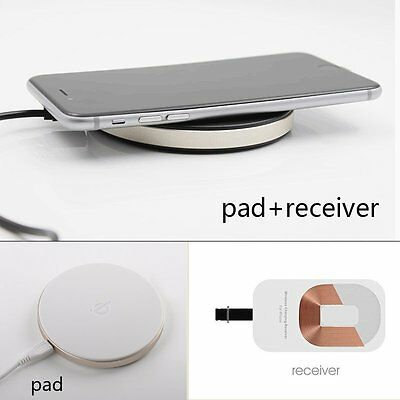 Qi Wireless Charger Charging Pad Mat + Receiver Kit Set For 6S Plus iPhone 5 5S