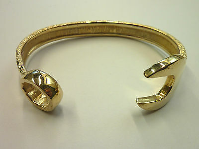 New 9ct Solid Yellow Heavy Mens Spanner Bangle 56 grams