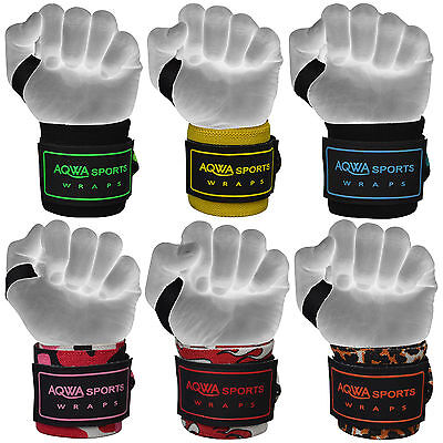AQWA Weight Lifting Wrist Support Wraps Gym Power Training Bandages Straps, 18""