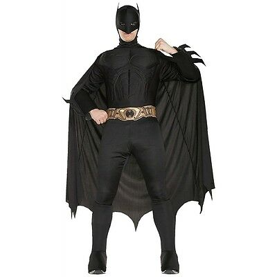 Deluxe Batman Costume Adult Dark Knight Superhero Halloween Fancy Dress