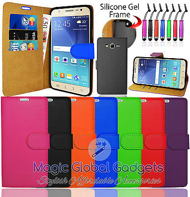 Pu Leather Wallet Flip Side Open Case Cover For Samsung Galaxy Phones