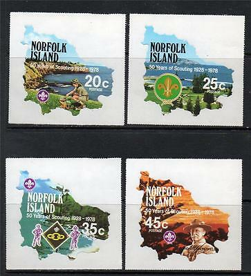 Norfolk Island Mnh 1978 Sg209-212 50Th Anv Of Boy Scout Movement Set Of 4