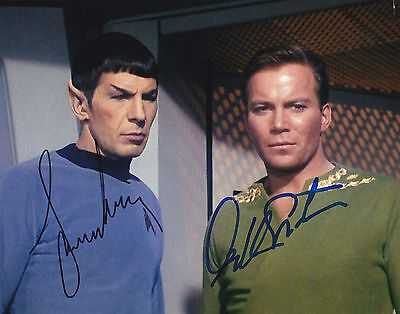Kirk & Spock William Shatner & Leonard Nimoy Signed Photo Star Trek Autograph