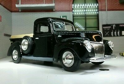 G LGB Scale 1:24 1940 Ford Delivery Truck  Pickup Diecast Model 73250 Black