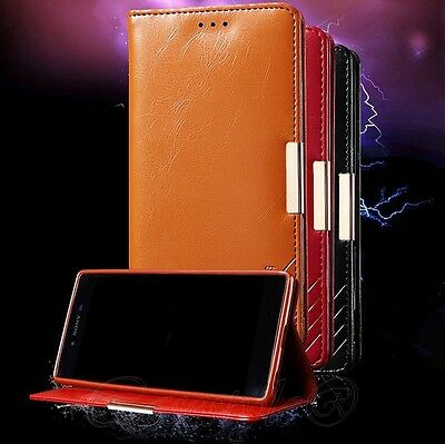 Sony Xperia Z5+Z5 Premium Phone Genuine Leather Wallet Flip Case Card Cover New