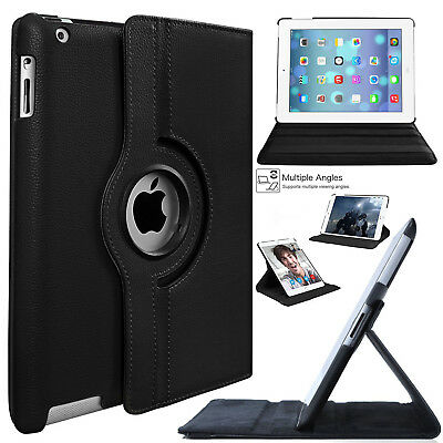 New 360 Rotating Leather Folding Folio Stand Case Cover for Apple iPad Models
