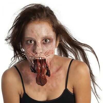 Zombie Makeup Mouth Prosthetic Appliance Special Effects Halloween Costume FX