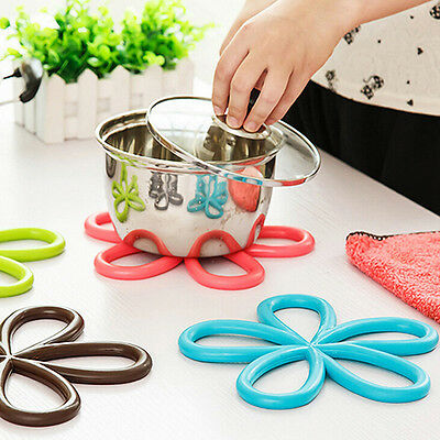 Sightly Flower PVC Anti-Slip Table Insulation Mat Heat Pad Kitchen Placemats