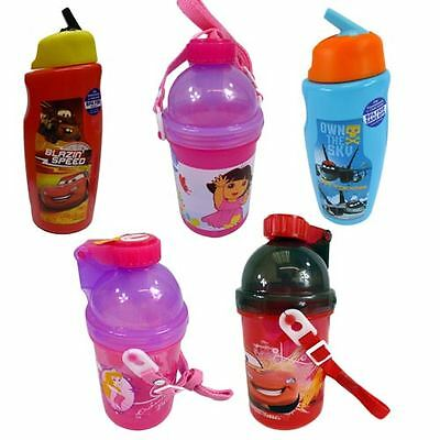 Licensed Kids Drink Bottle Disney Princess Cars Planes Dora BPA FREE