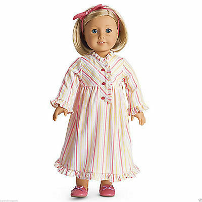 American Girl Kit's Striped Nightie Nightgown Pajamas-New In A Box