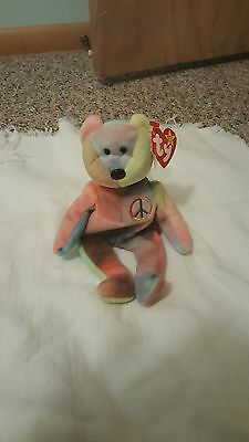 Peace Bear Beanie Baby 5th Generation Swing And 6th Generation Tush With Errors